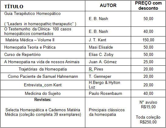 Acervo Luz Menescal Editora - tabela de precos